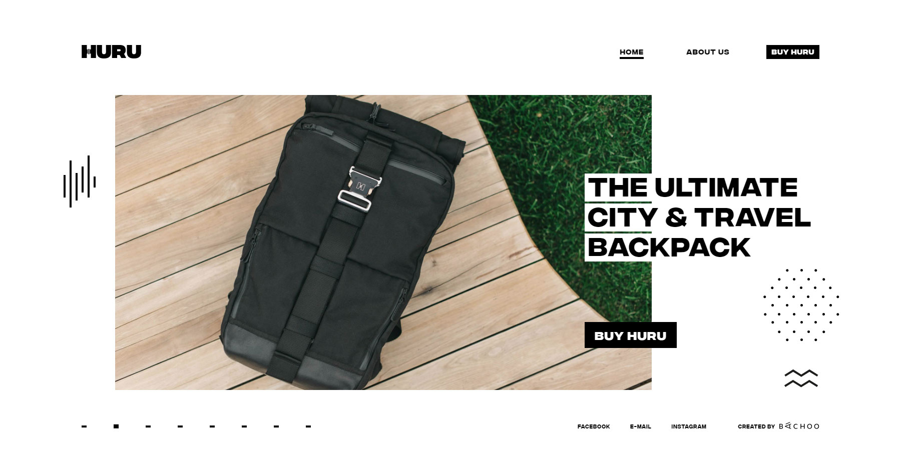 Huru Backpack - Website of the Day