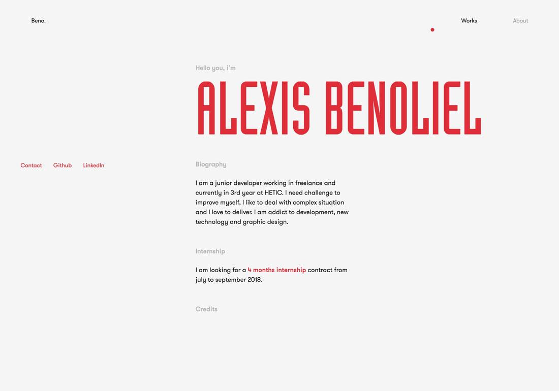 Portfolio Alexis Benoliel