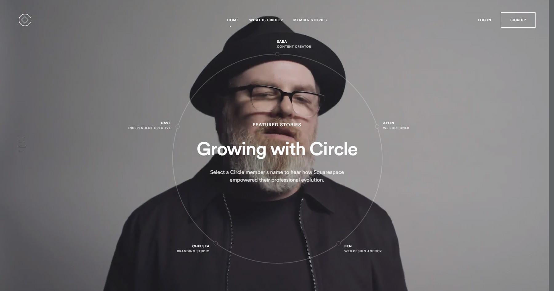 Squarespace Circle - Website of the Day