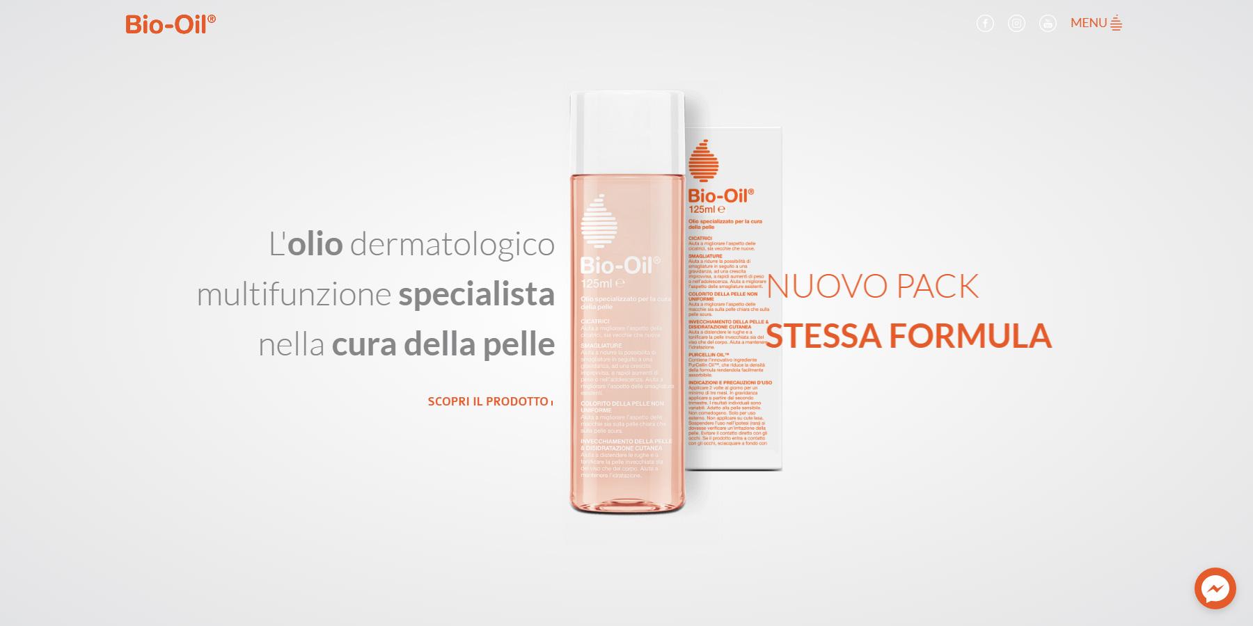 Bio Oil Italia - Website of the Day