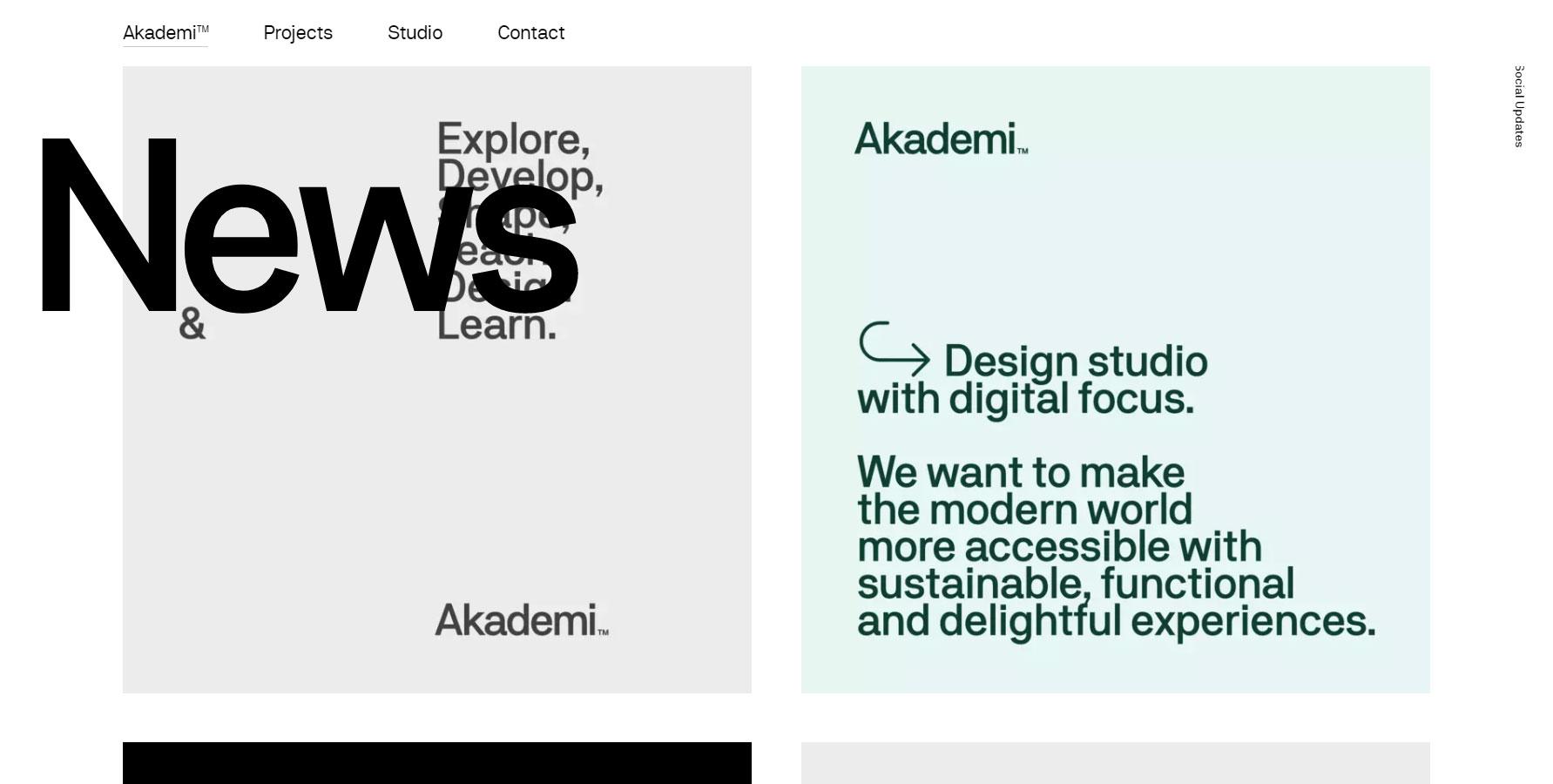 Akademi™ - Website of the Day