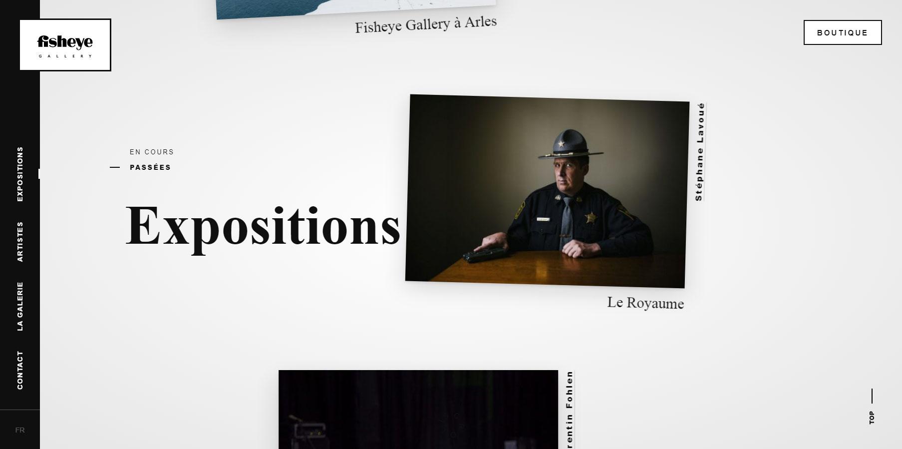 Fisheye Gallery - Website of the Day