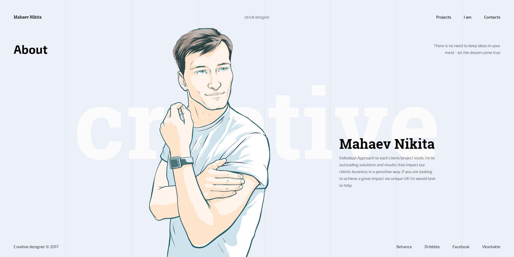 Mahaev Nikita - Designer - Website of the Day