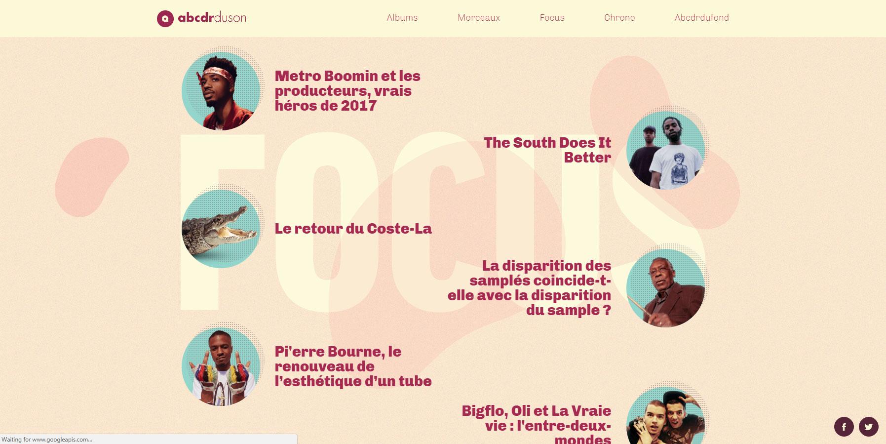 L'année rap 2017 - Website of the Day