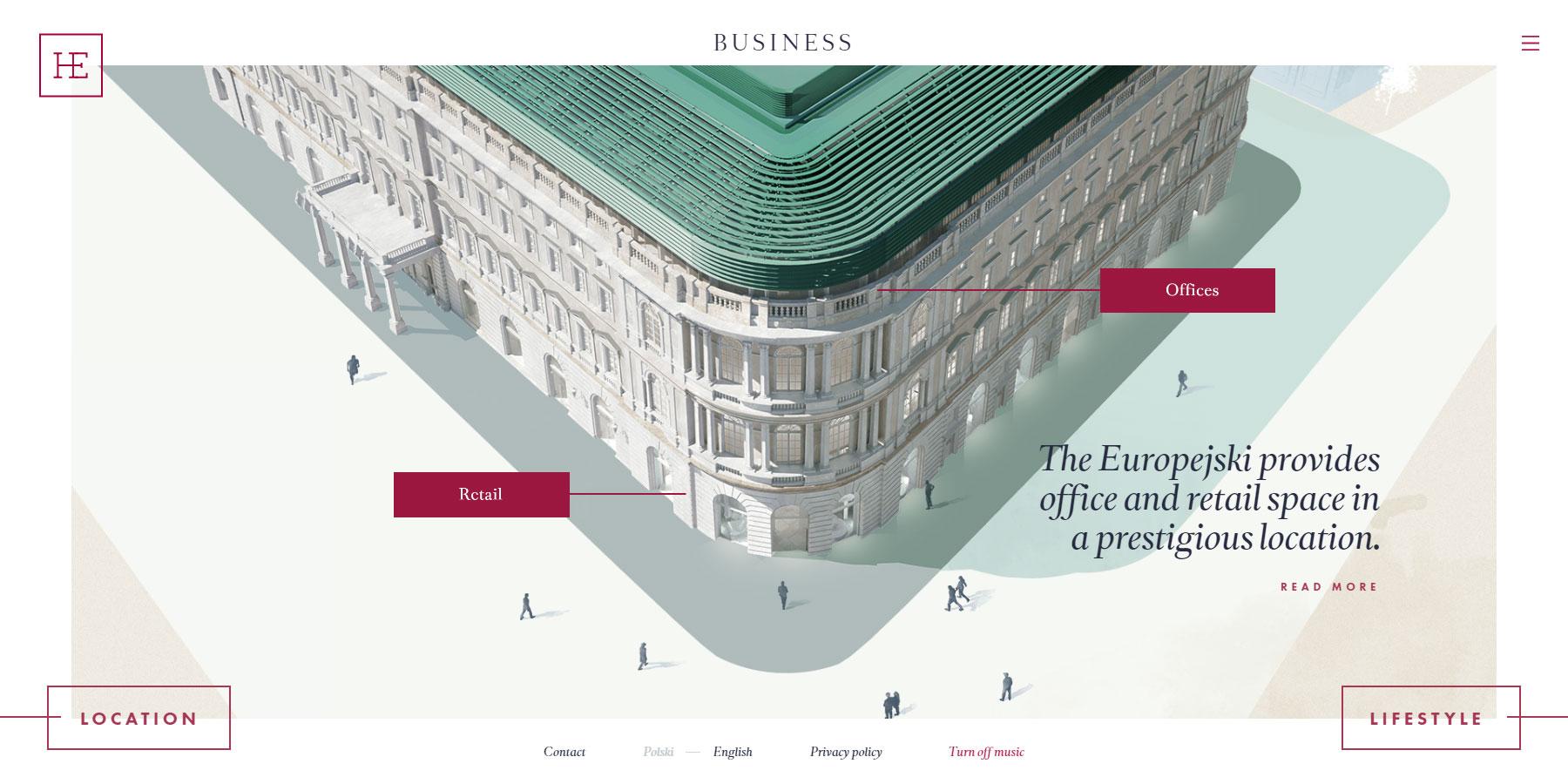 The Europejski - Website of the Month