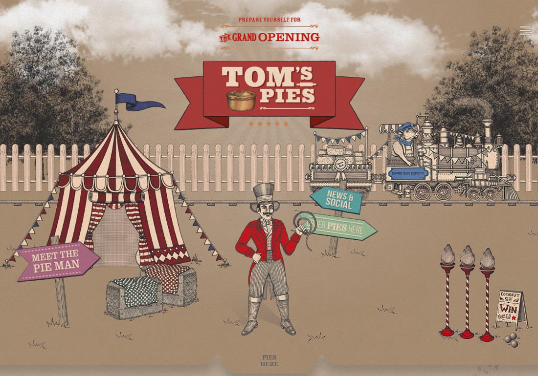 Tom's Pies - Food Portfolio