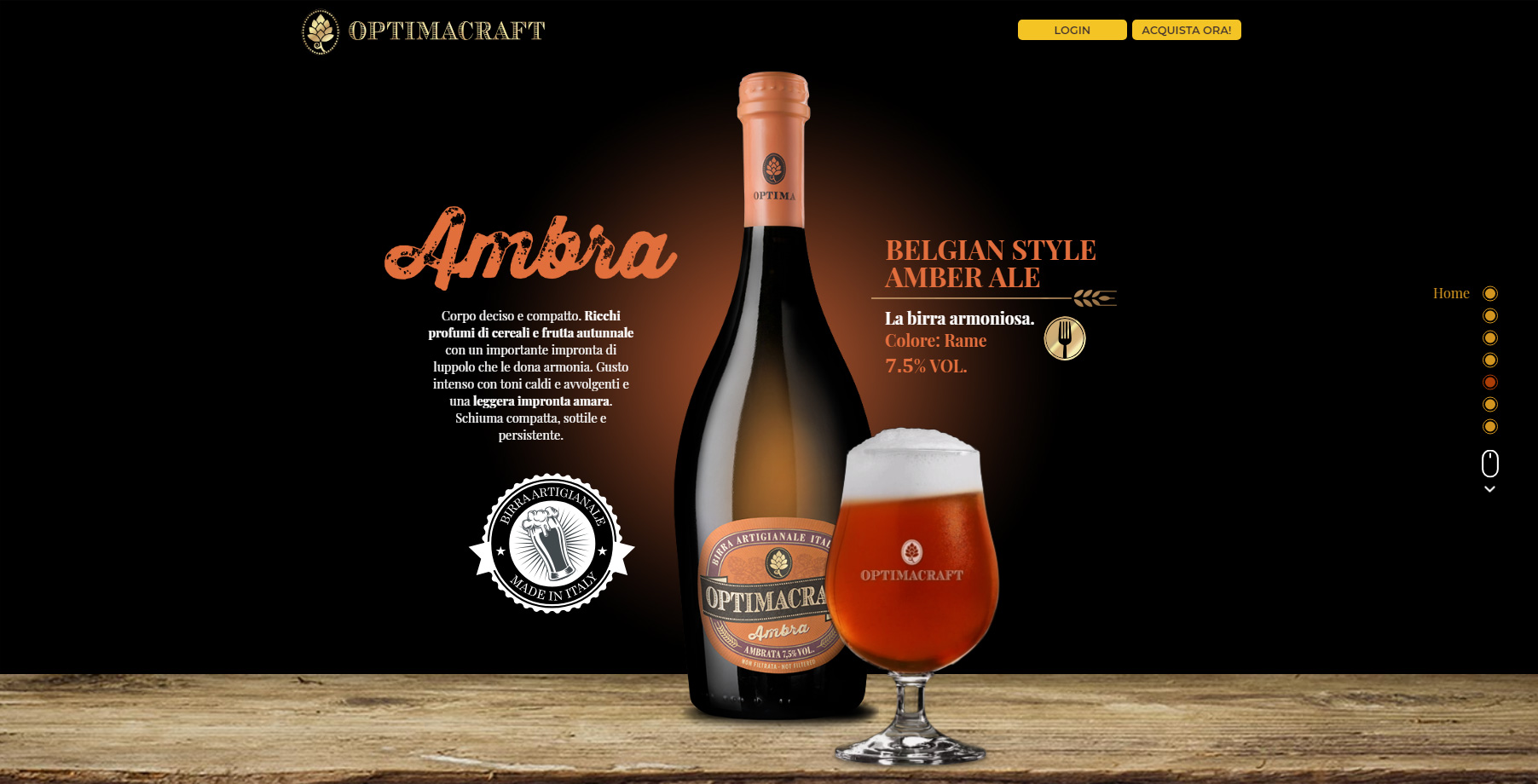Optima Craft Beer - Website of the Day