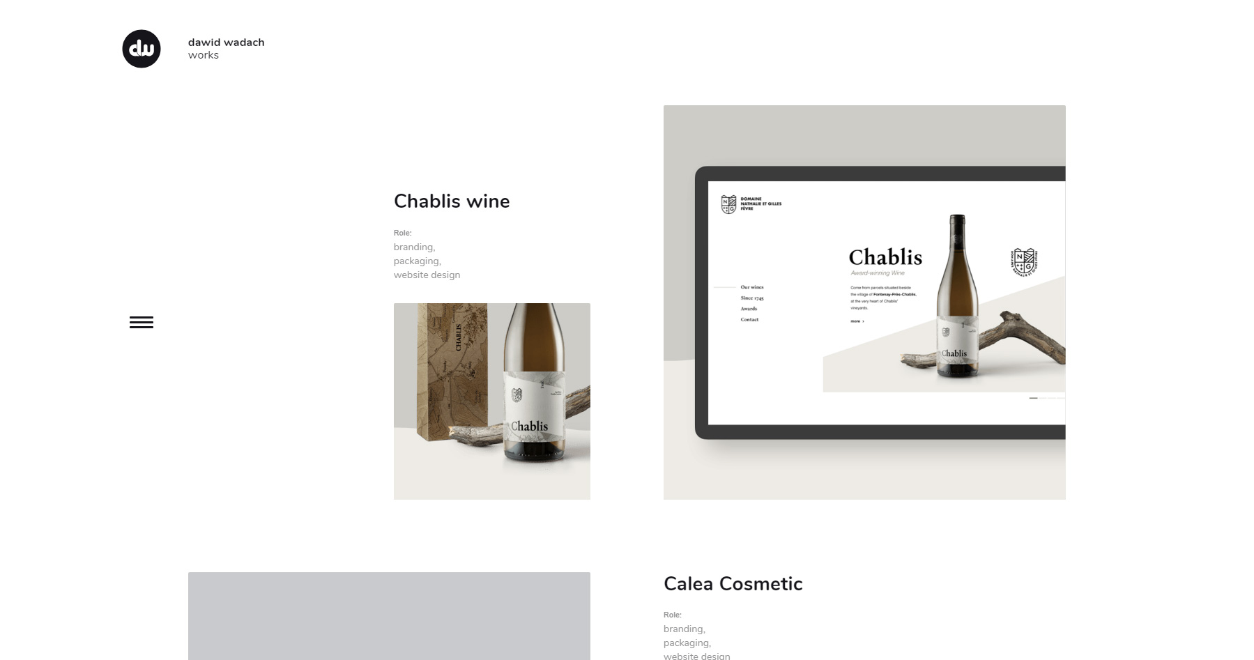 Dawid Wadach - Graphic designer - Website of the Day