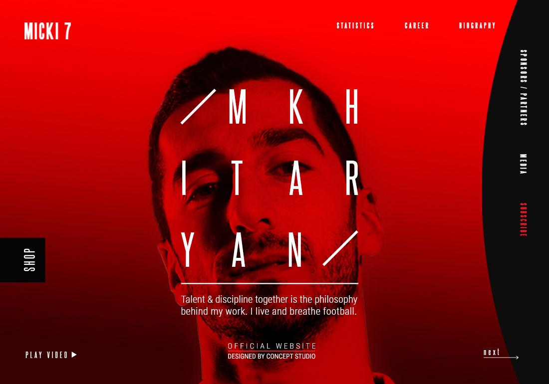 Henrikh Mkhitaryan Official Website