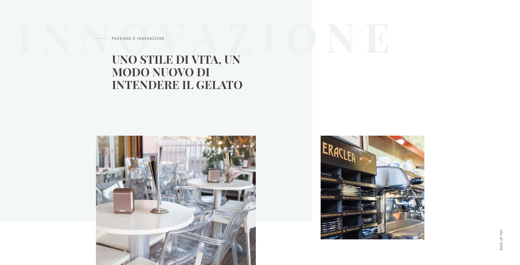 Capani La Gelateria - Website of the Day