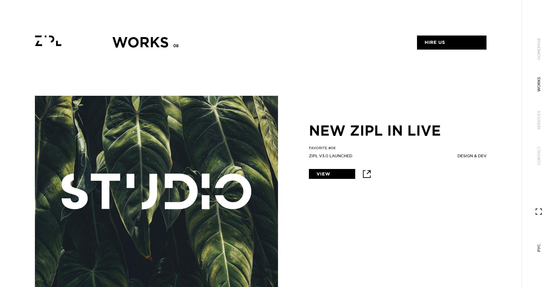 ZIPL Studio - Website of the Day
