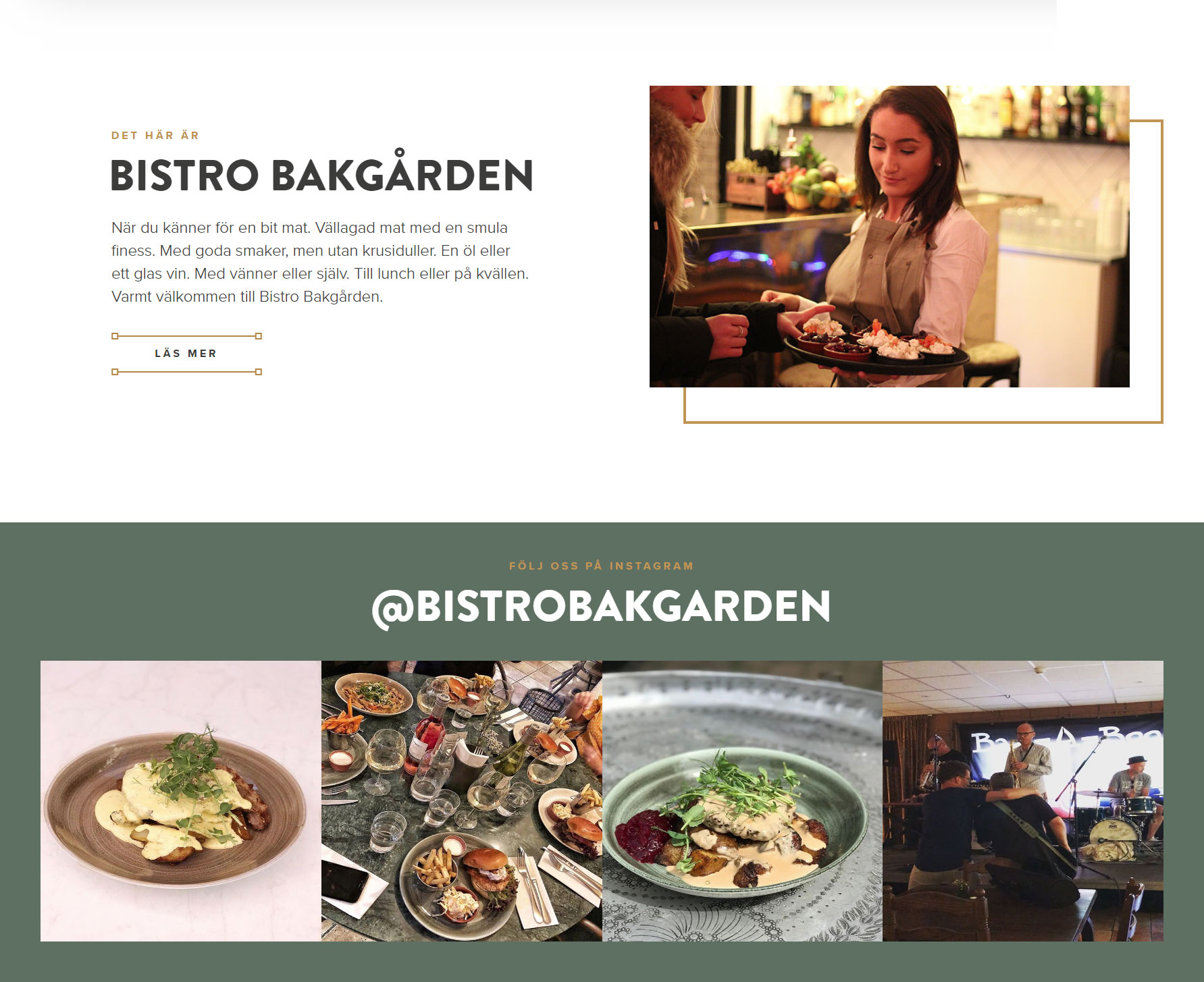 Bistro Bakgården - Website of the Day