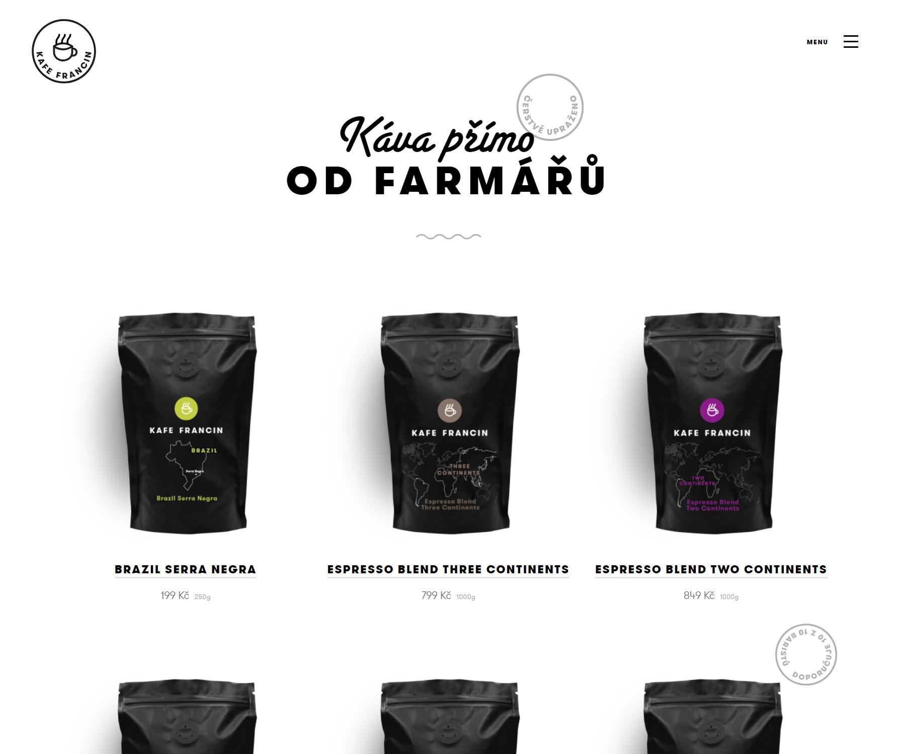 Kafe Francin - Website of the Day