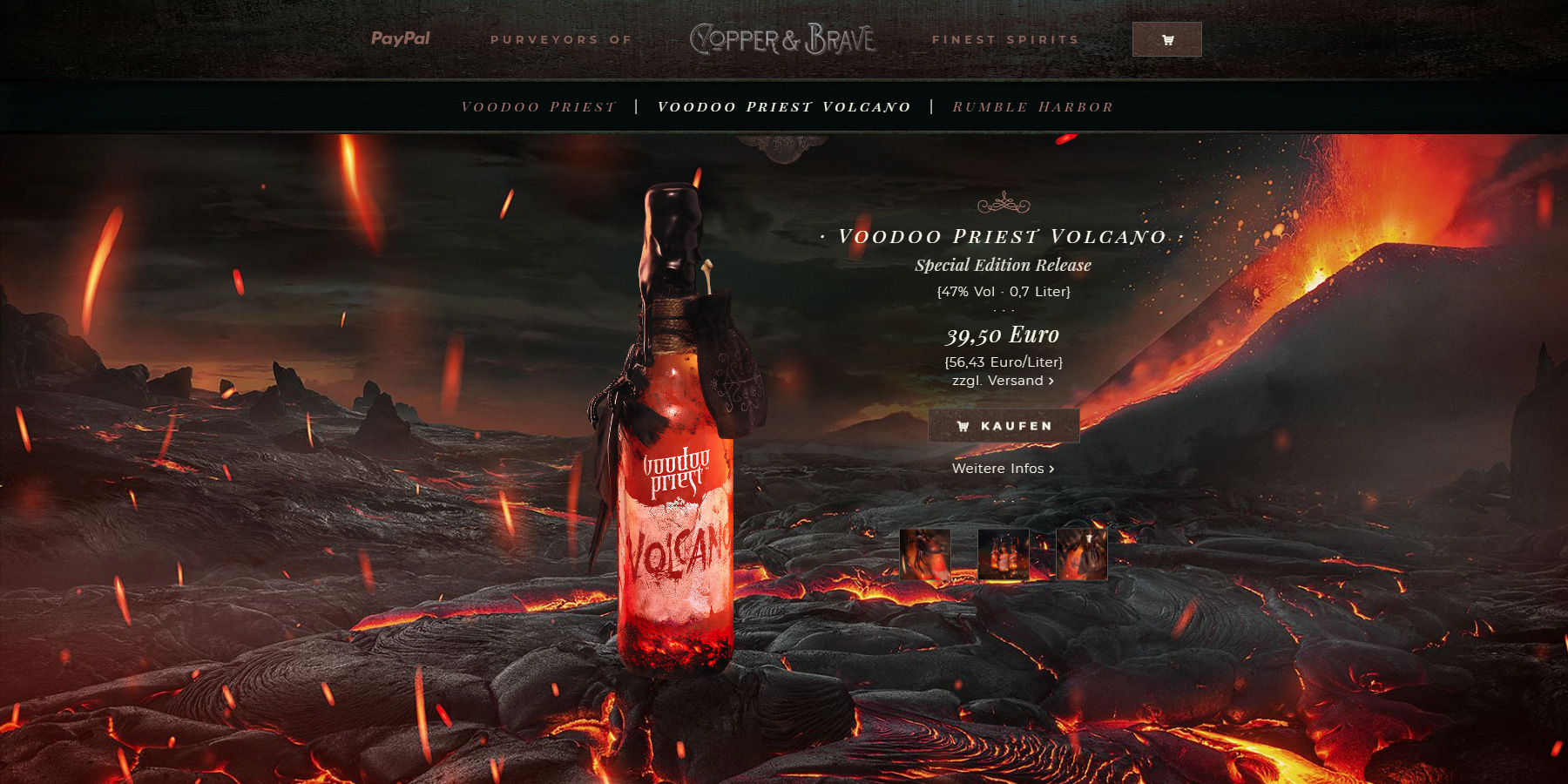 Copper & Brave™ - Website of the Day