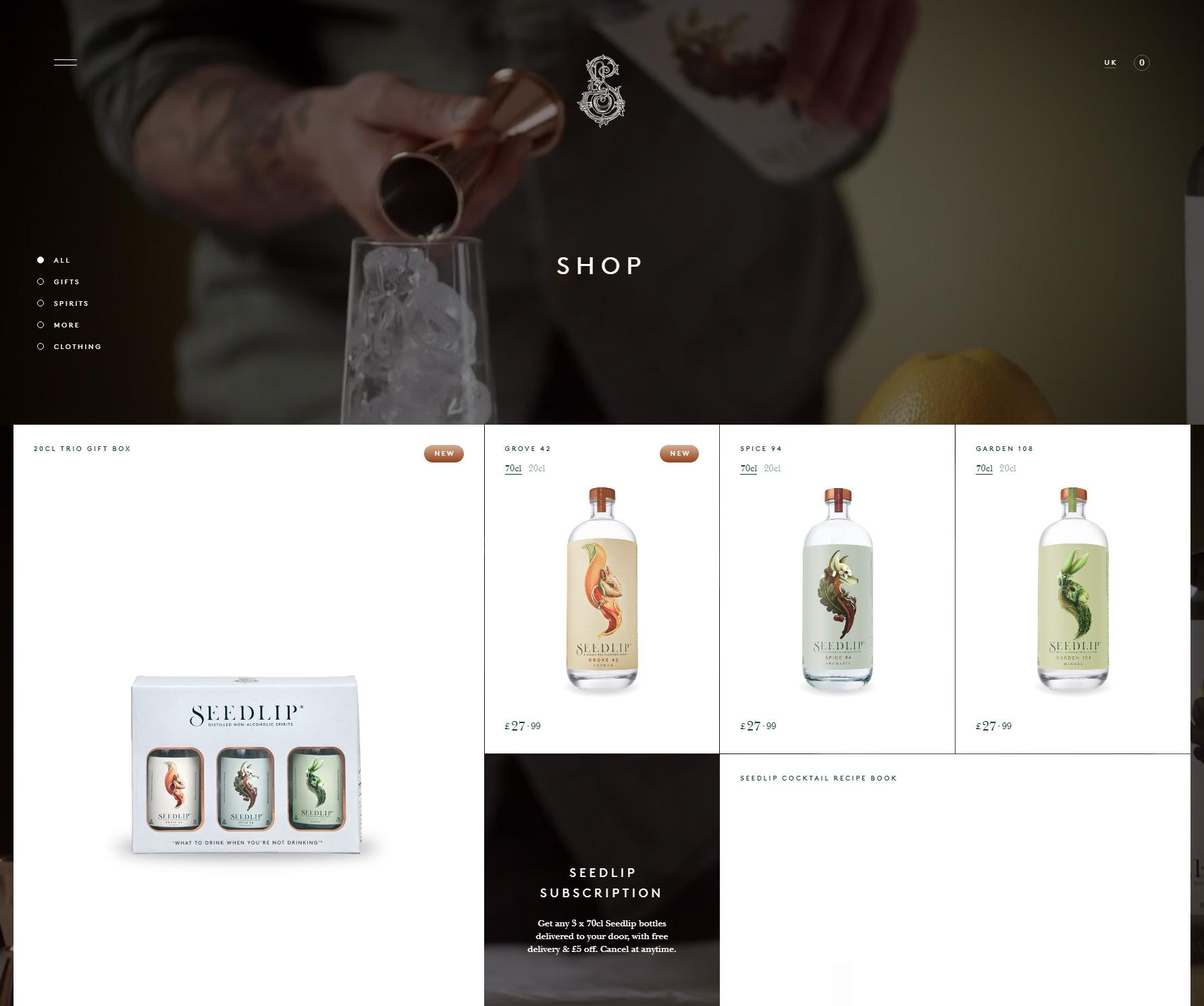 Seedlip - Website of the Day