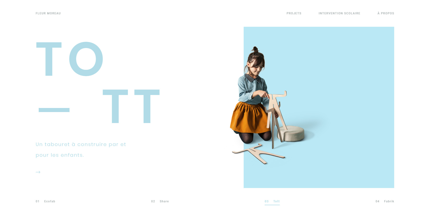 Fleur Moreau - Portfolio - Website of the Day