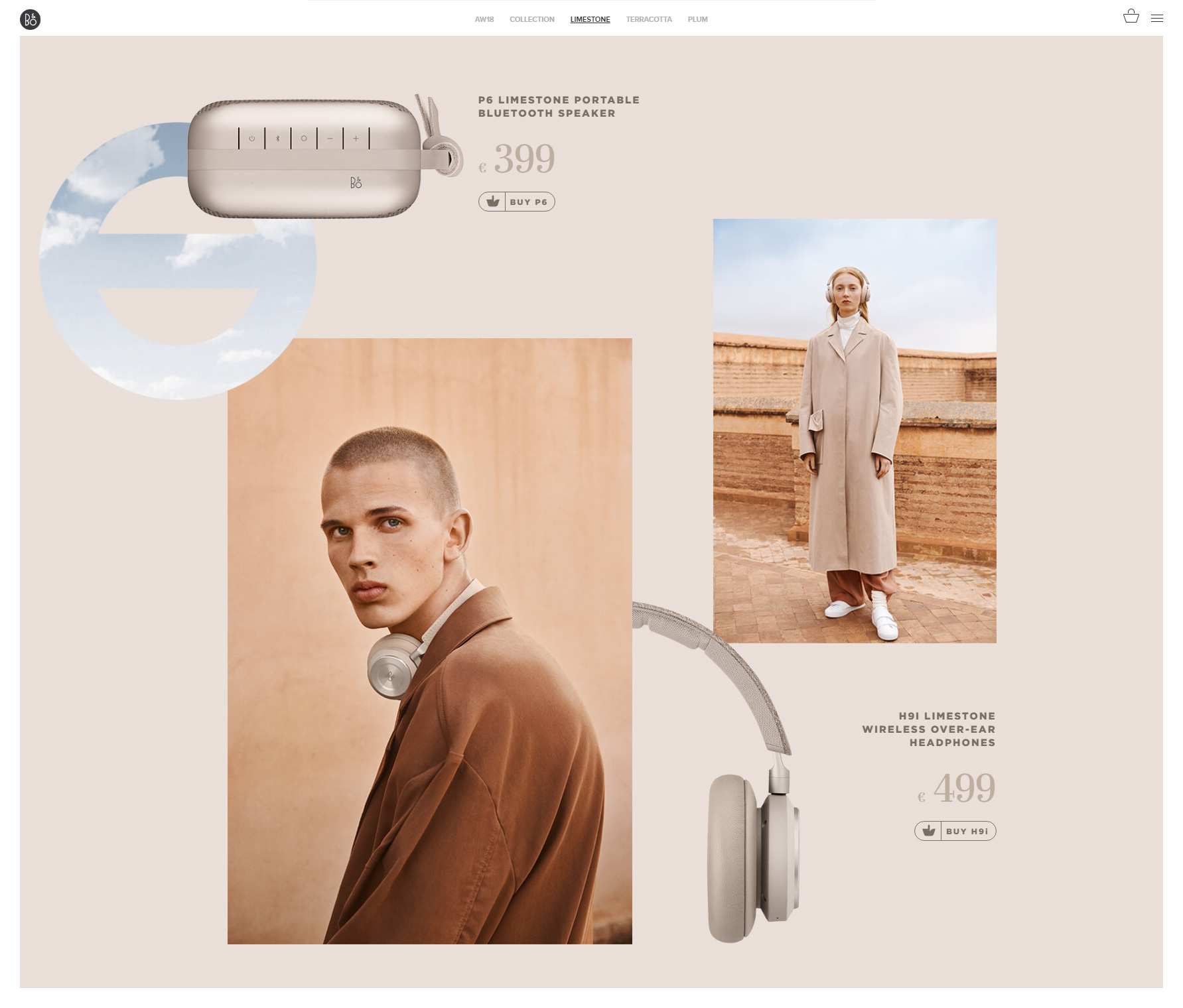 Bang & Olufsen AW18 - Website of the Day