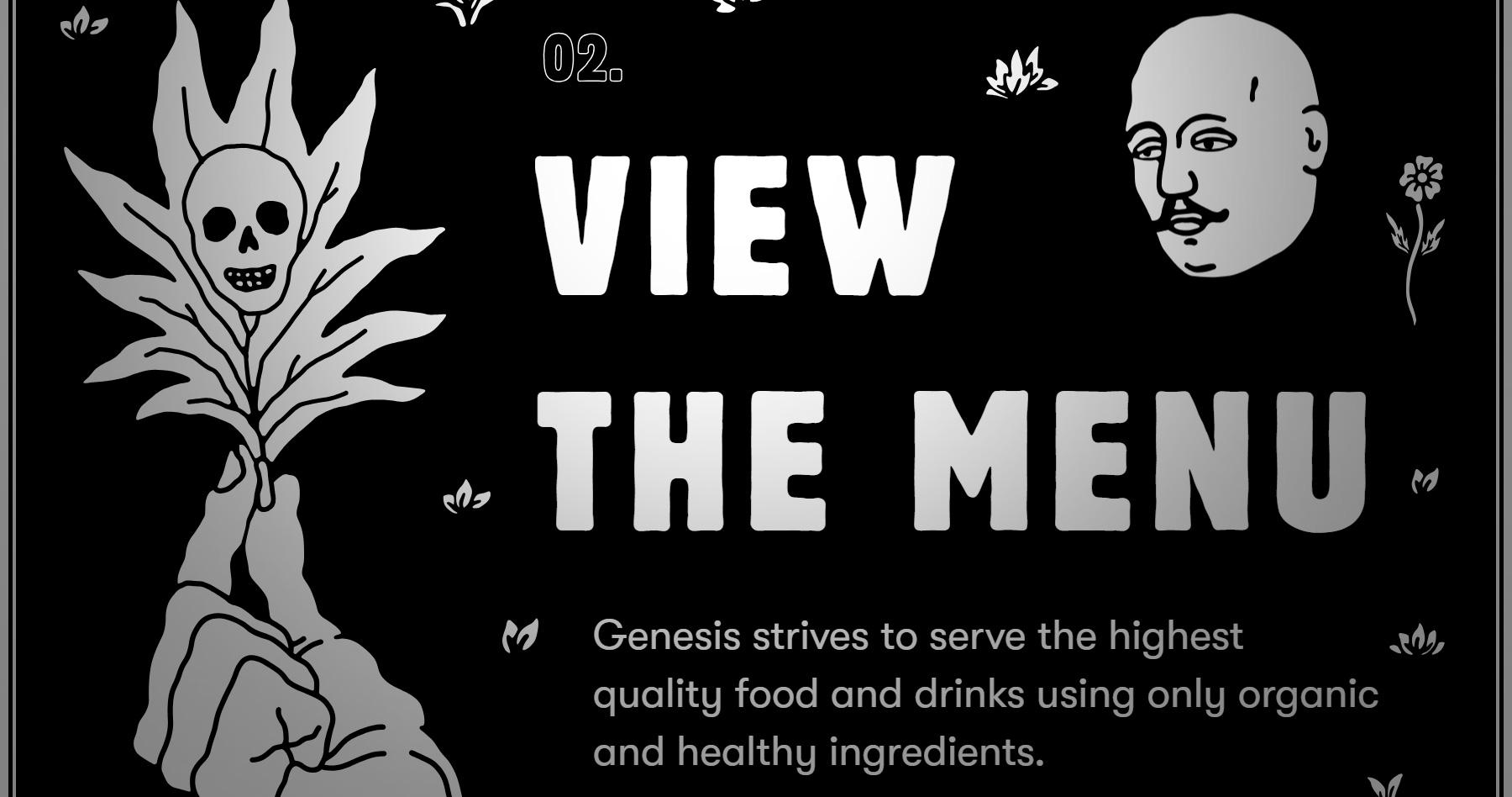 Genesis Restaurant - Website of the Day