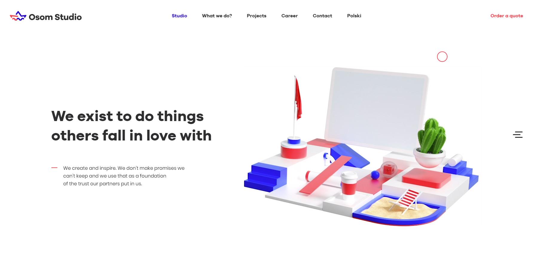 Osom Studio Digital Agency - Website of the Day
