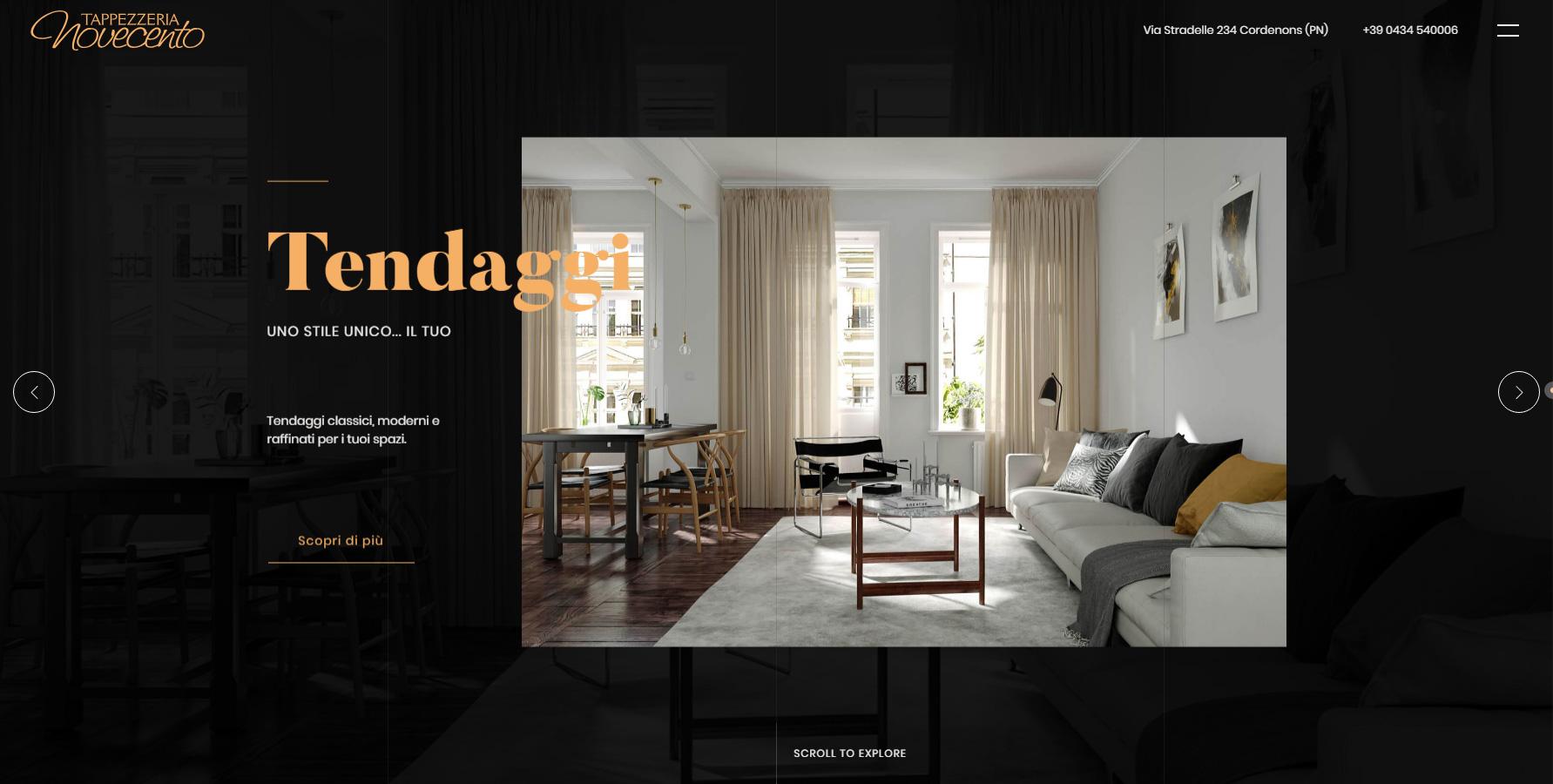 Tappezzeria Novecento - Website of the Day