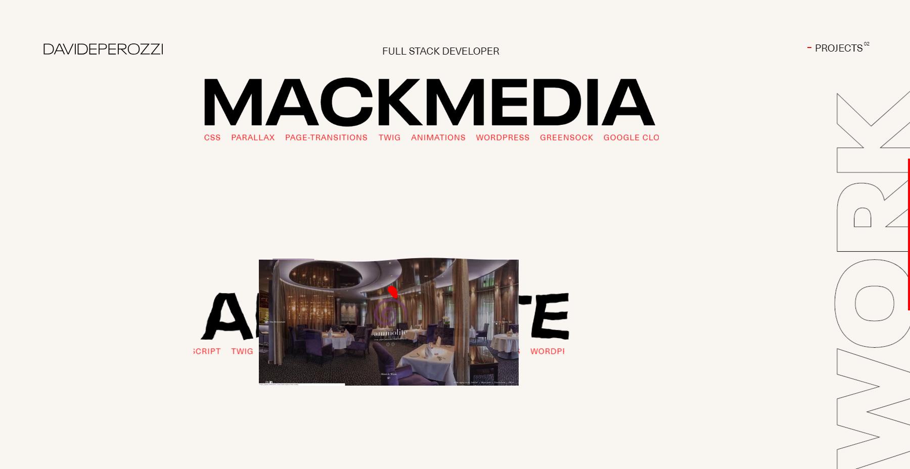 Davide Perozzi - Portfolio - Website of the Day