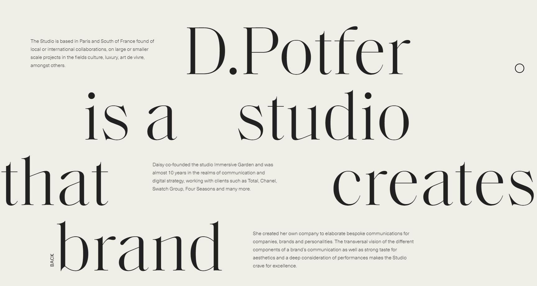 D.Potfer studio - Website of the Day