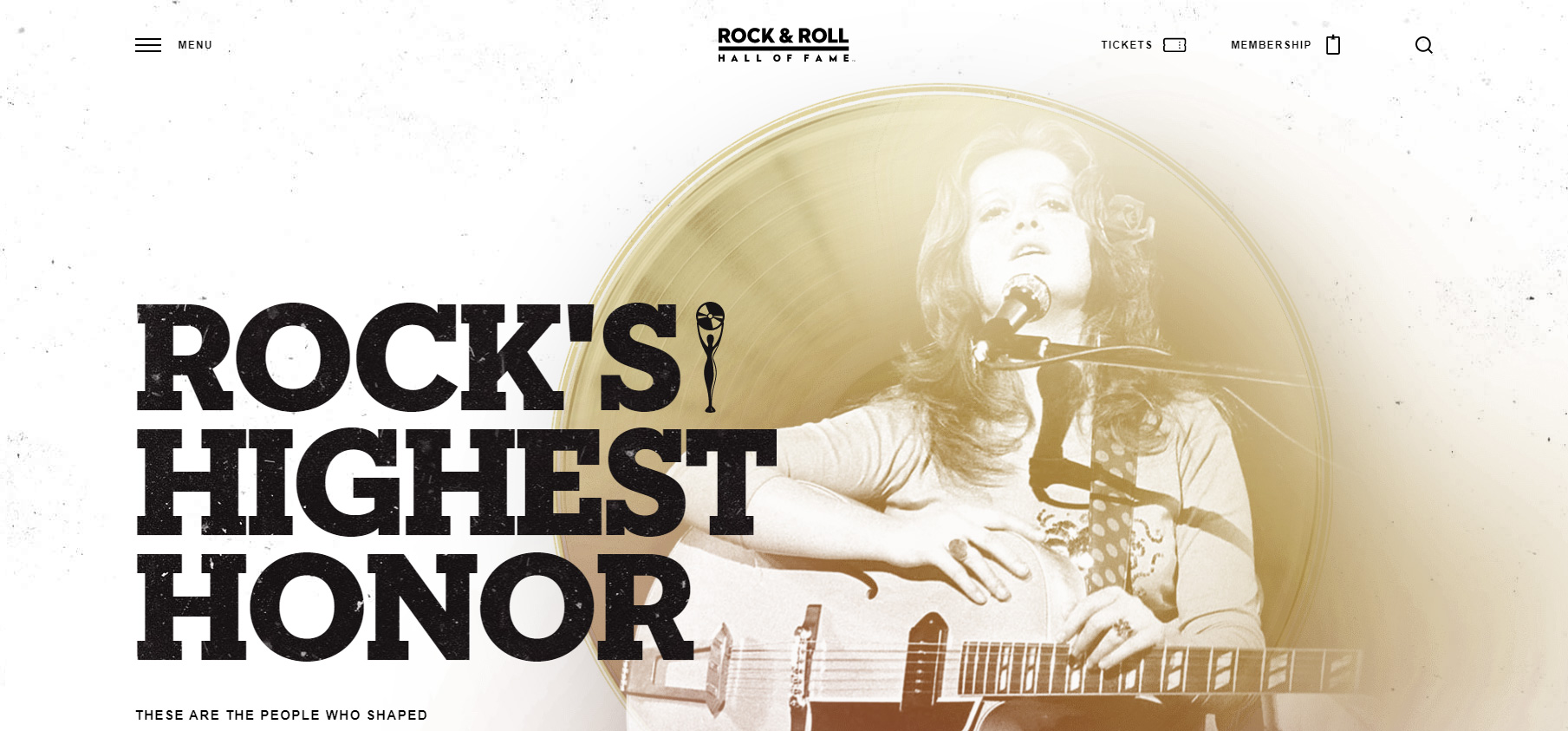 Rock & Roll Hall of Fame Museum - Website of the Day