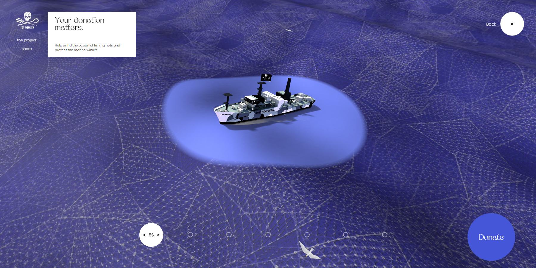Sea Shepherd - No fishing net - Website of the Day