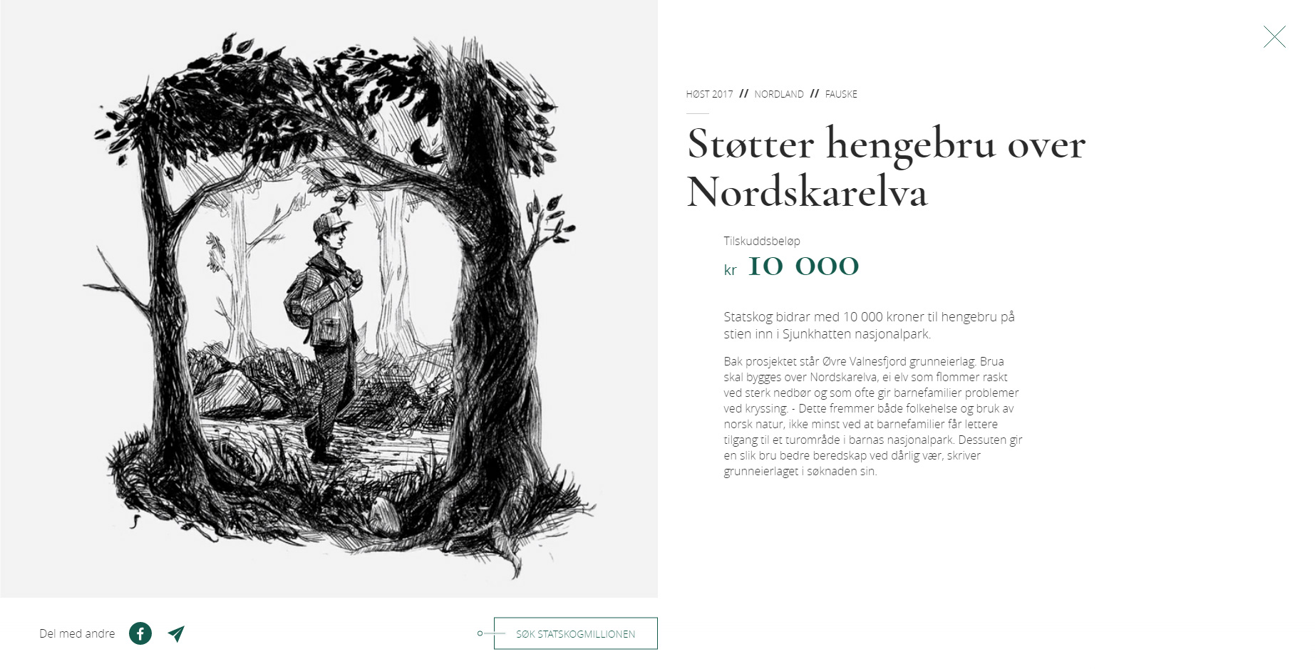 Statskogmillionen - Website of the Day