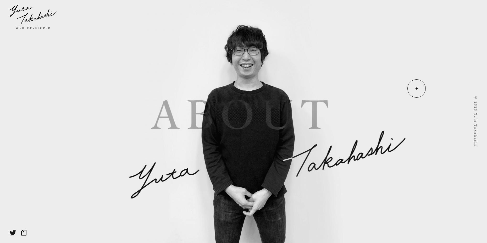 Yuta Takahashi - Portfolio - Website of the Day