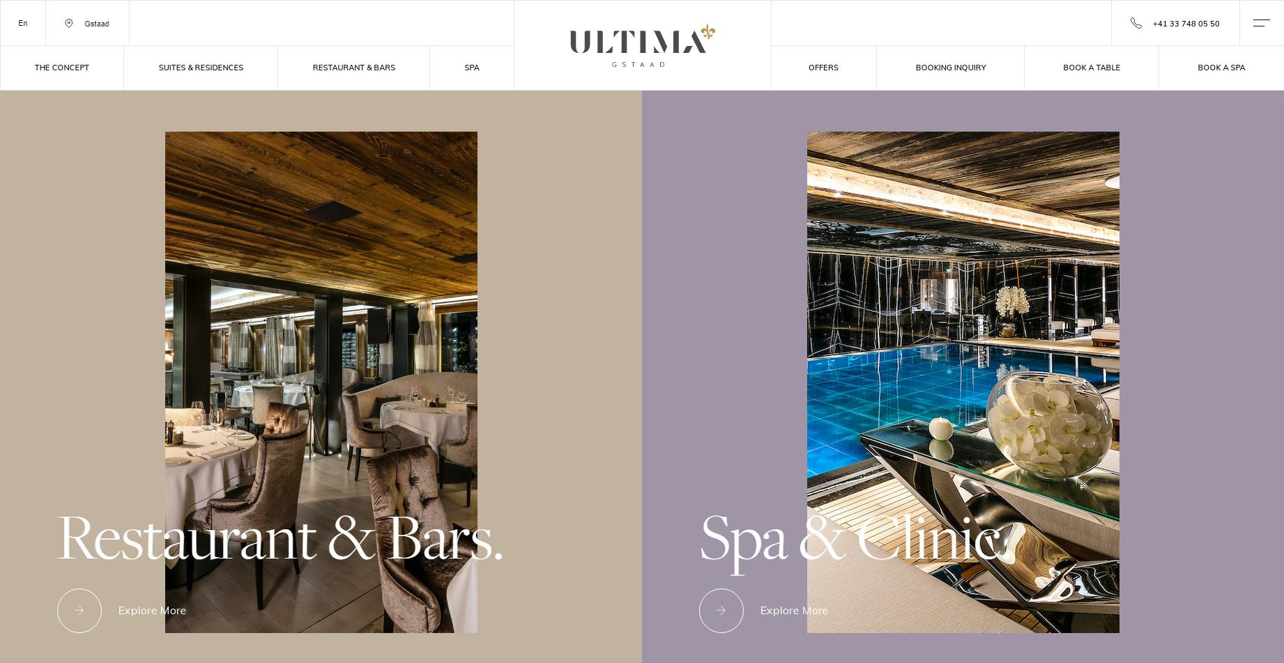 ULTIMA GSTAAD SWITZERLAND - Website of the Day