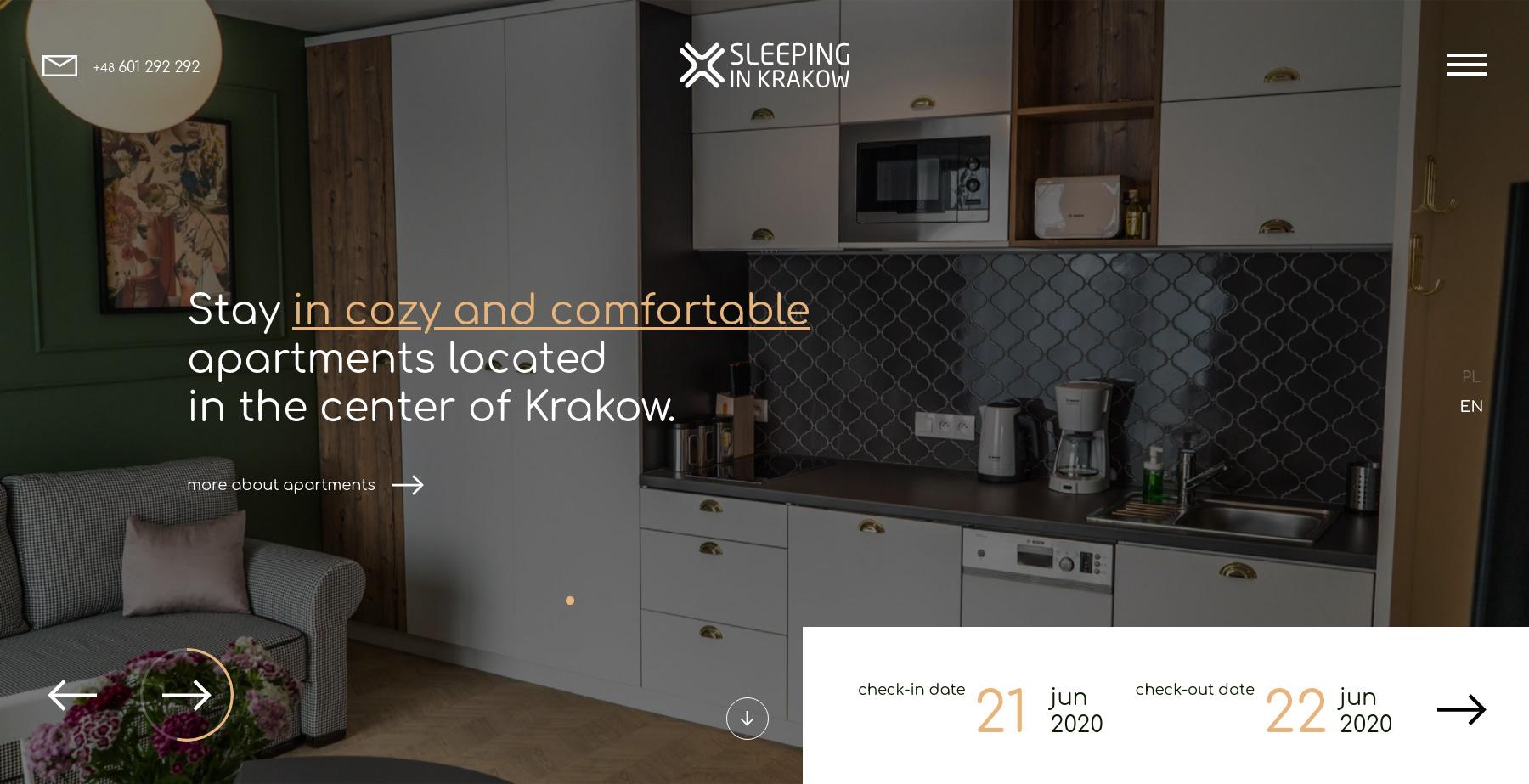 Sleeping in Krakow - Website of the Day