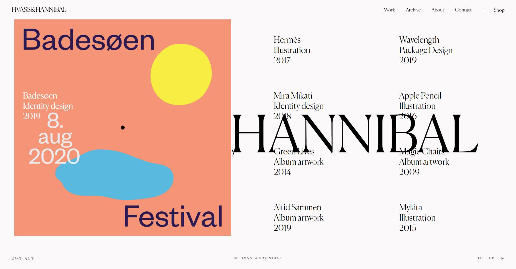 Hvass&Hannibal - Website of the Day