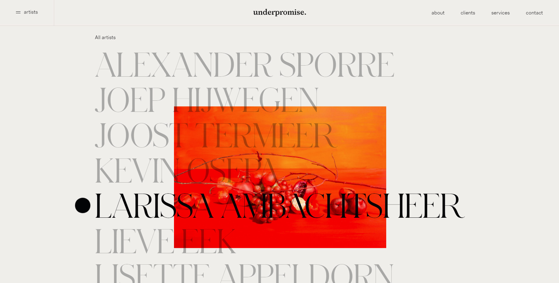 underpromise - Website of the Day
