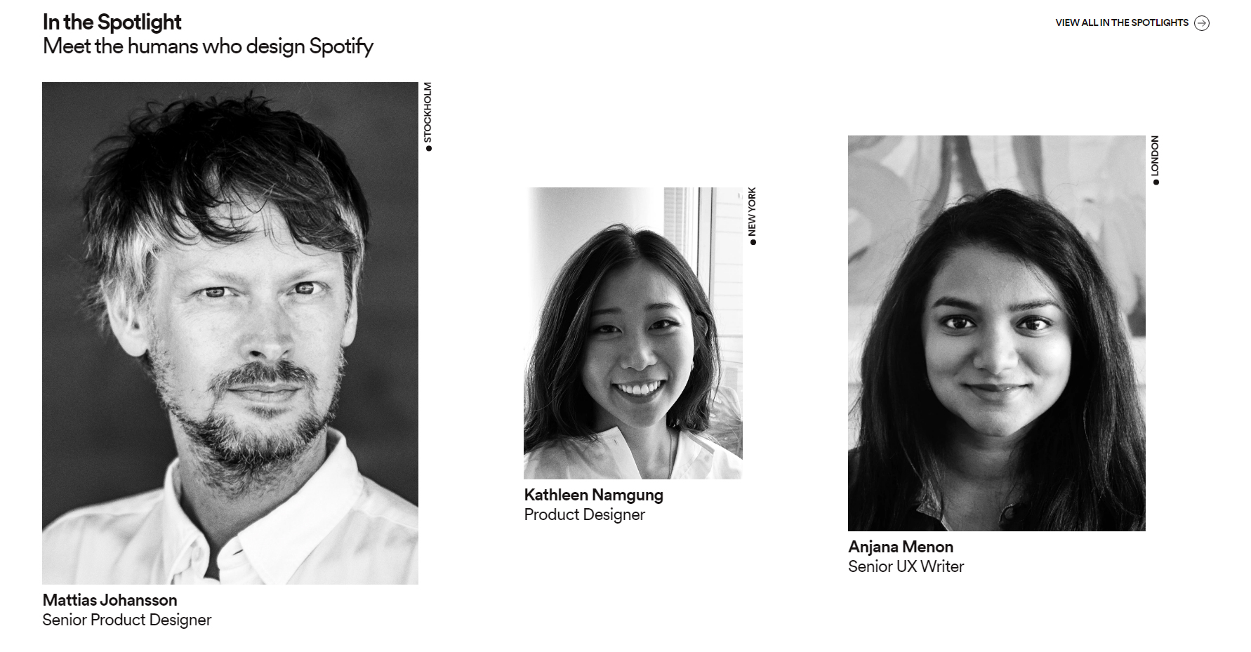Spotify Design - Website of the Day