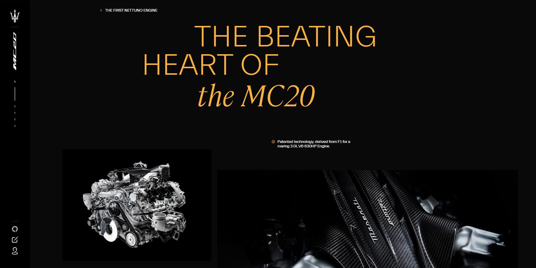 Maserati MC20 - Website of the Day