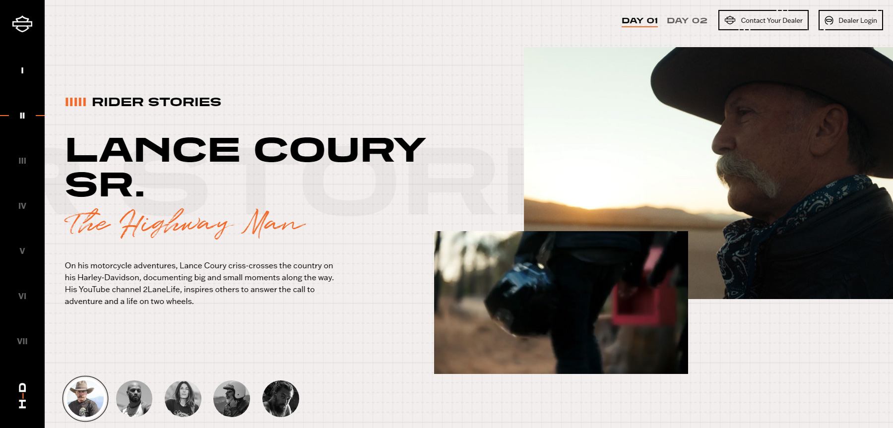 Harley-Davidson: H-D 21 Microsite - Website of the Day