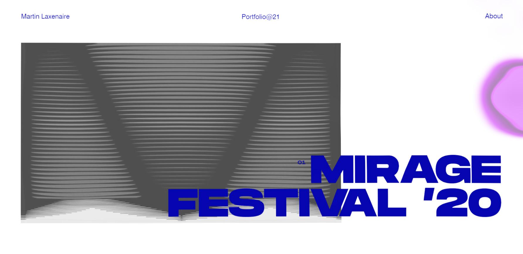 Martin Laxenaire '21 Portfolio - Website of the Day
