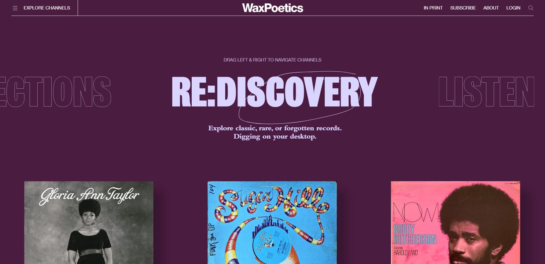 Wax Poetics - Website of the Day