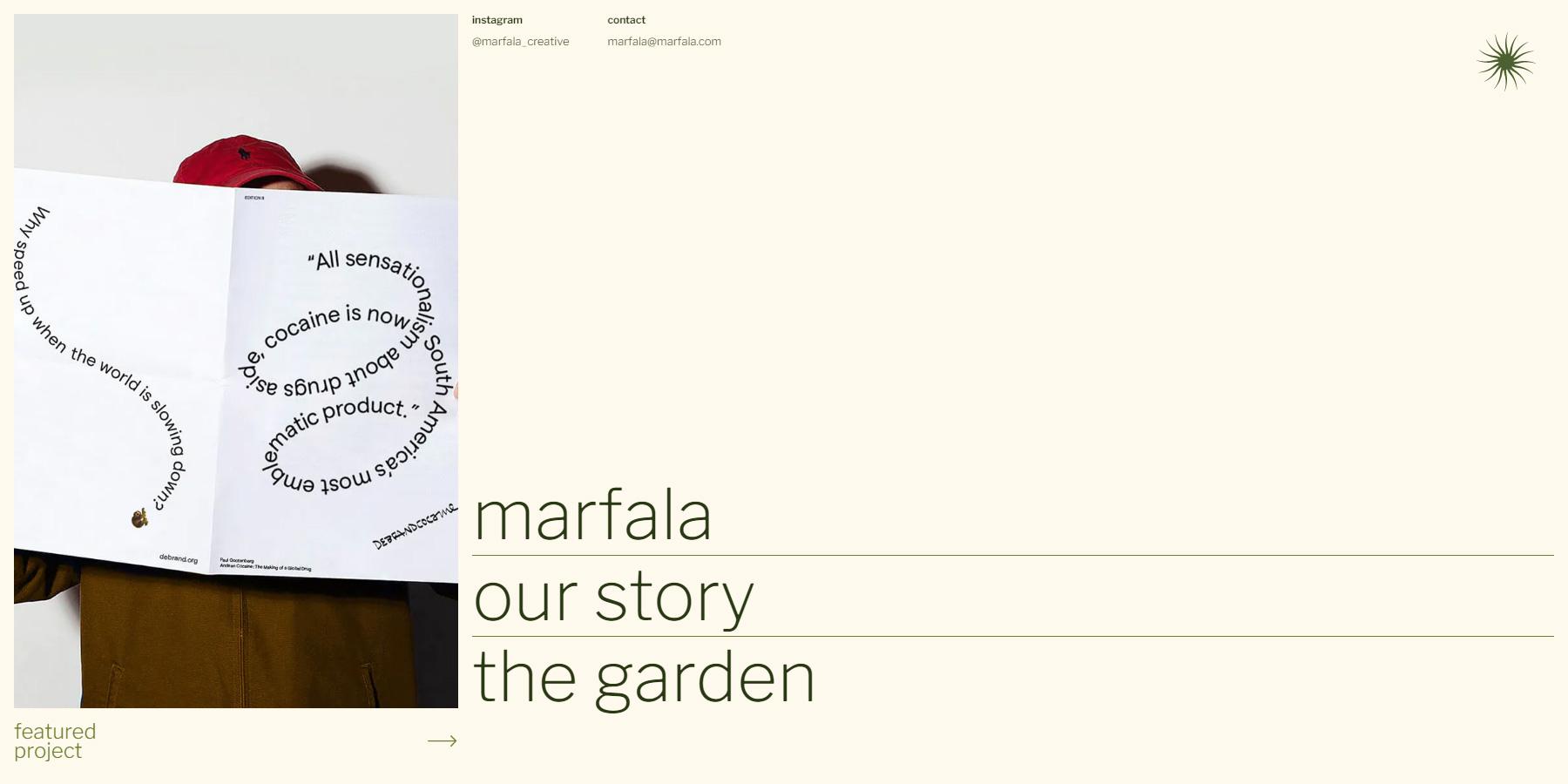 Marfala Studio - Website of the Day