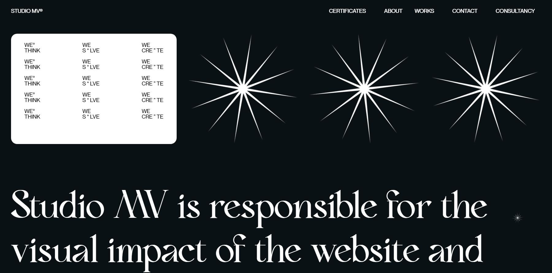 MV Studio Design Portfolio - Website of the Day