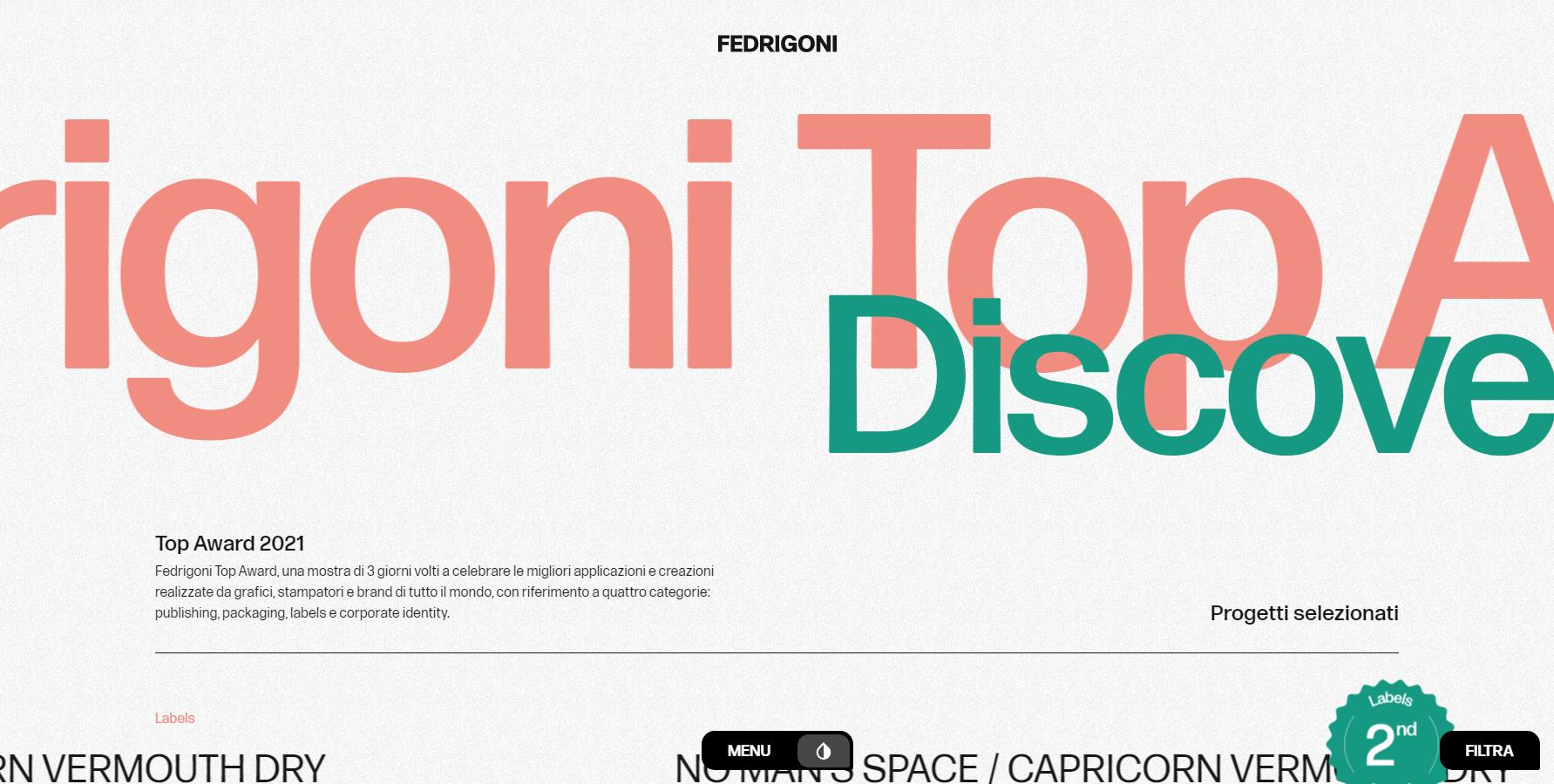Fedrigoni Top Awards 2021 - Website of the Day