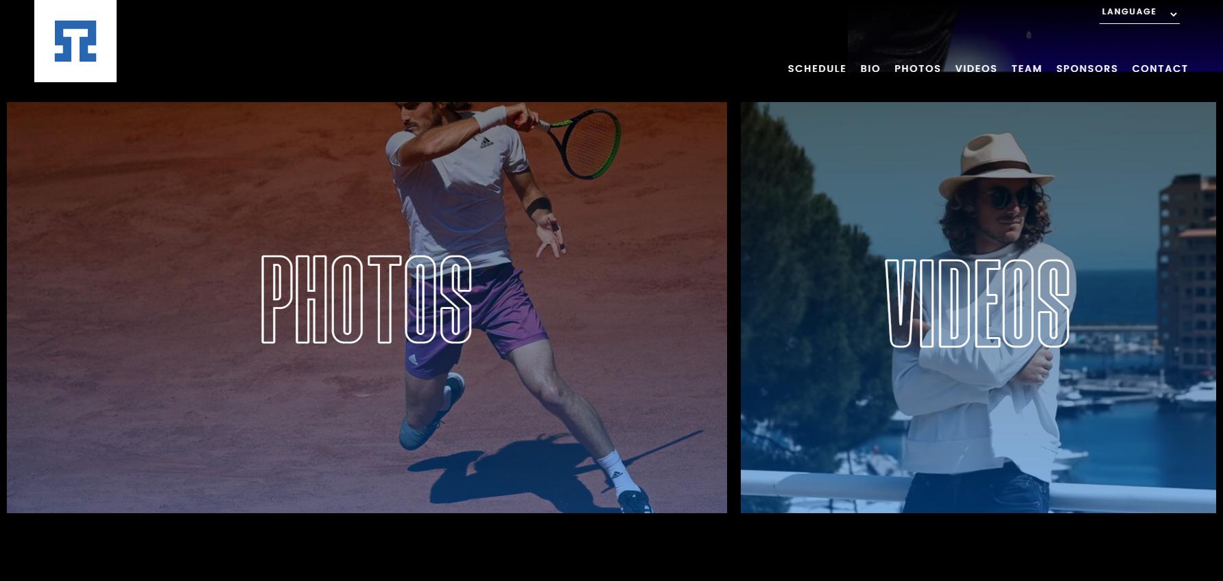 Stefanos Tsitsipas - Website of the Day