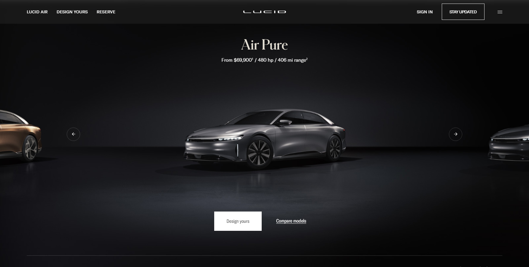 Lucid Motors - Website of the Day