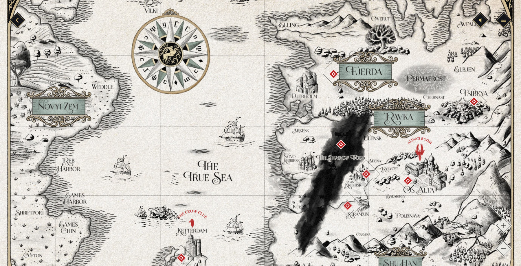 Shadow and Bone: Beyond the Fold - Website of the Day