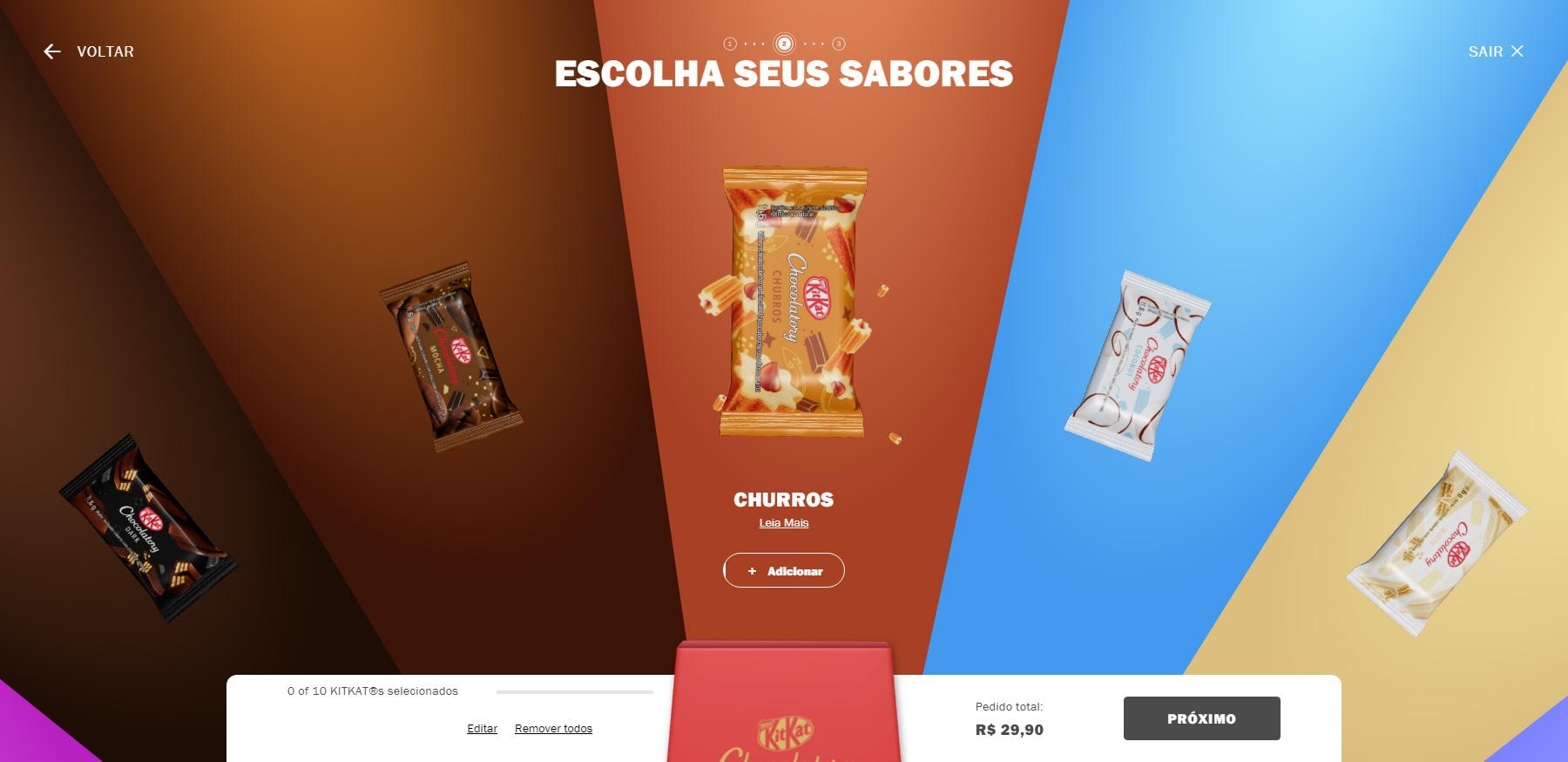 KitKat Chocolatory Brazil Ecommerce - Website of the Day