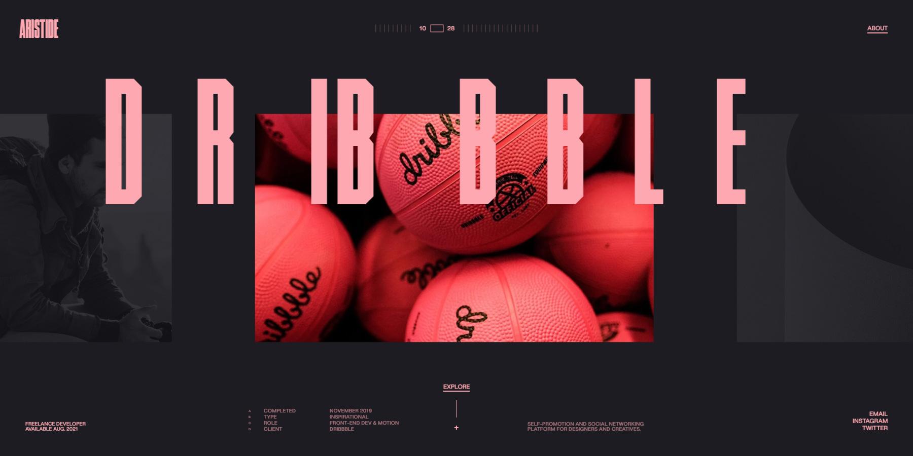 Aristide – Portfolio 2021 - Website of the Day