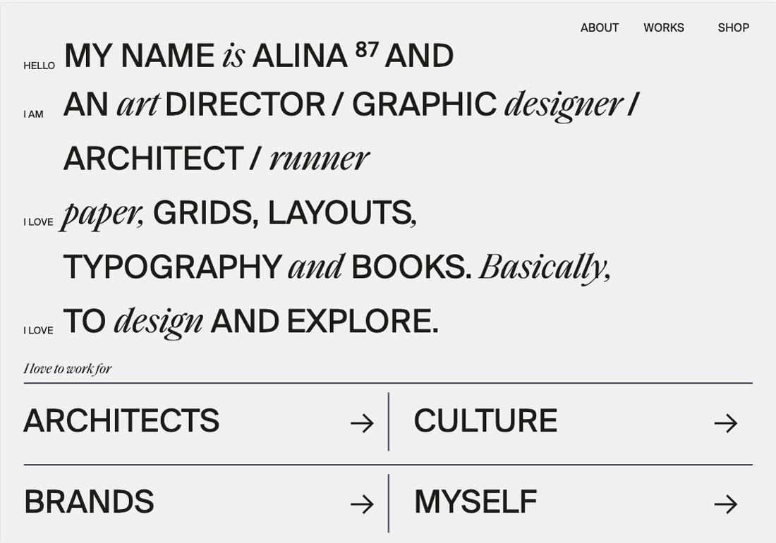 Alina Rybacka portfolio