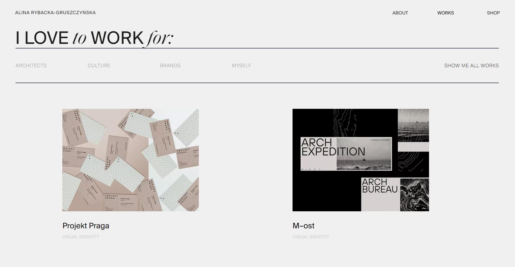 Alina Rybacka portfolio - Website of the Day