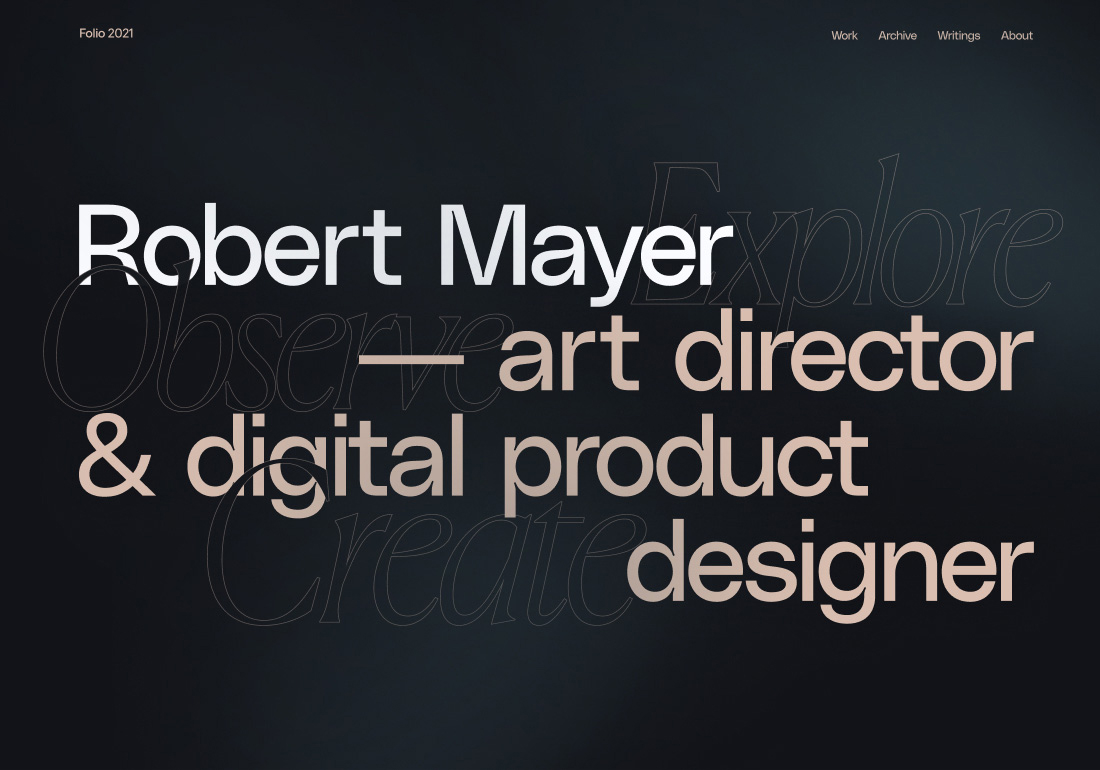 Robert Mayer Portfolio